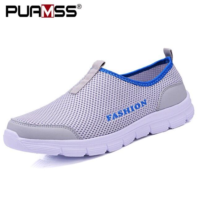 Verão nova mulher sandálias de malha de ar sapatos casuais leves respirável água deslizamento-em sapatos femininos tênis sandalias mujer 2