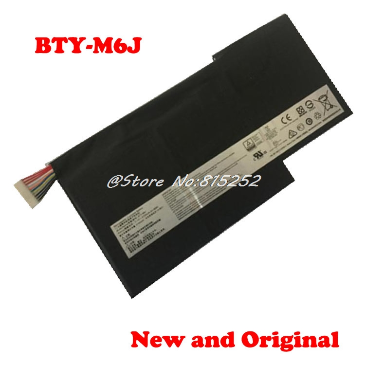 Battery For MSI GS43VR BTY M47 6RE GS40 6QE GS43 8060mAh 61 25Wh GS63VR GS73VR 6RF MS 16K4 BTY M6J 11 1V 64 98Wh New in Laptop Batteries from Computer Office