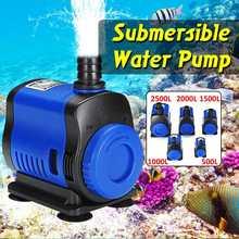 Home Silent 5/14/20/35/45/80W 500-3500L/H Submersible Water Pump Filter Fish Pond Fountain Aquarium Tank High-lift EU Plug 220V