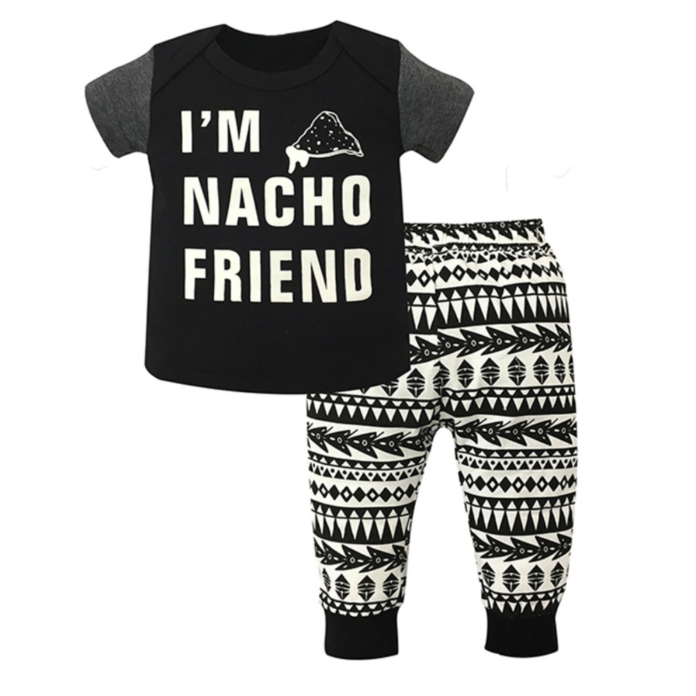 2018 Newborn Baby Boys Romper Boys Brother T-shirt Tops+ Pants Leggings Outfits Brother Set Clothes
