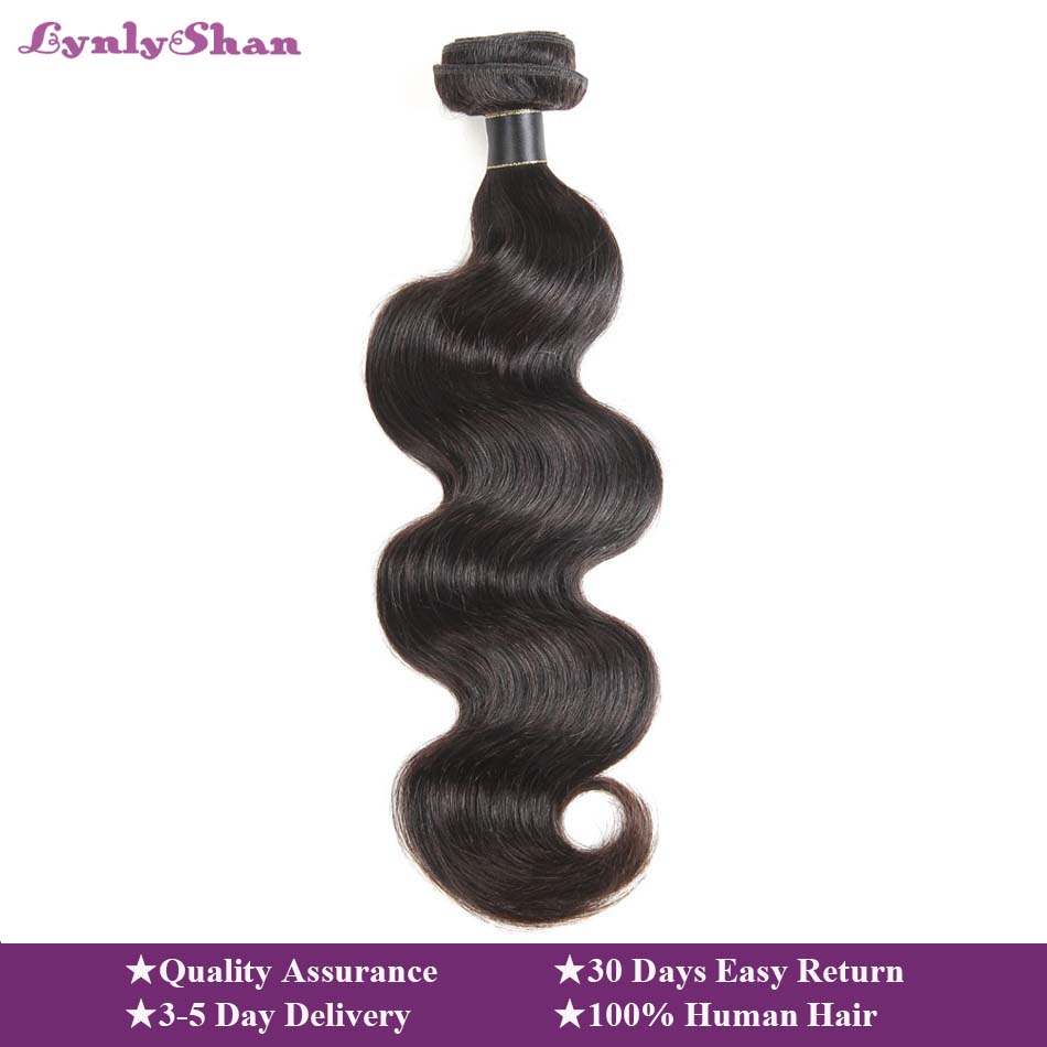 Lynlyshan Human Hair Brazilian Body Wave Bundles Remy Human Hair Extension 1/3/4 Piece Natural Colour 8-30 Inch Free Shipping