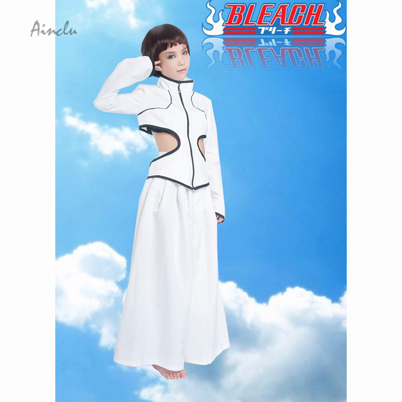 Ainclu Customize for adults and kids  Free Shipping Anime Bleach Espada 6 Luppi Antenor White Kimono Kids Cosplay Costume