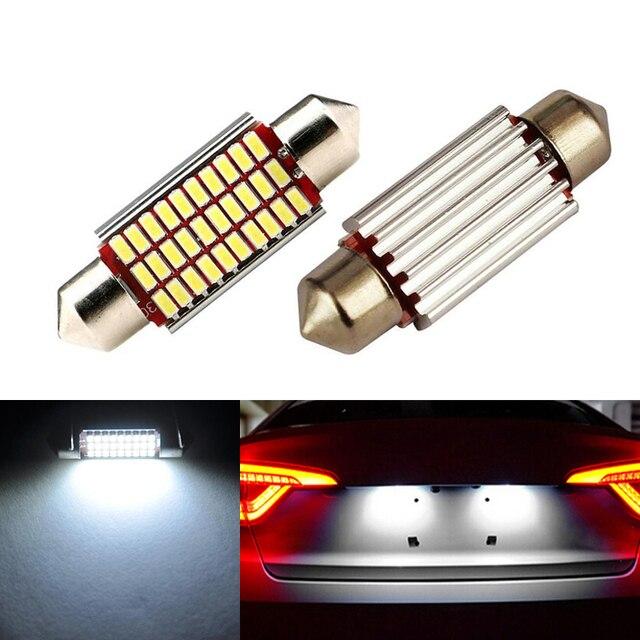2x Dome Festoon Canbus No Error License Number Plate Light For Audi A2 A3 A4 A5 A6 A7 A8 Q5 Q7 R8 RS4 RS5 RS6 RS7 TT 8L 8P B5 B6