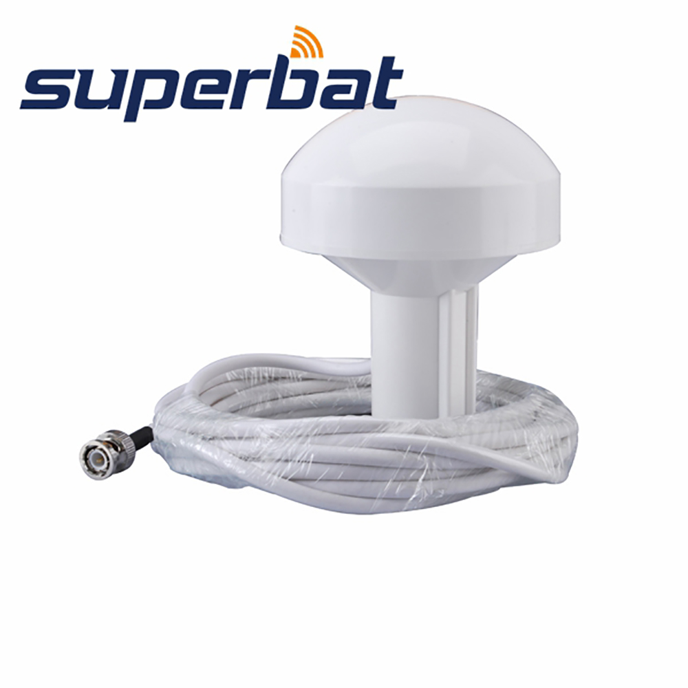 Superbat GPS Aerial Booster Active Marine Navigation Antenna 5M BNC Plug Waterproof Antenna for GARMIN GPS MAP 296 376c 396 498C