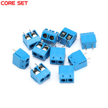 50PCS/LOT KF301-2P 2 KF301-5.0-2P 5.08mm Pitch Pin Plug-in PCB Screw Block