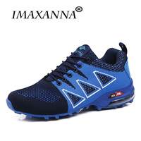 IMAXANNA Men Sneakers Breathable Shoes Athletic Sapatos Outdoor Trainer Sports Men Running Shoes Air Zoom Cushioning Sneakers