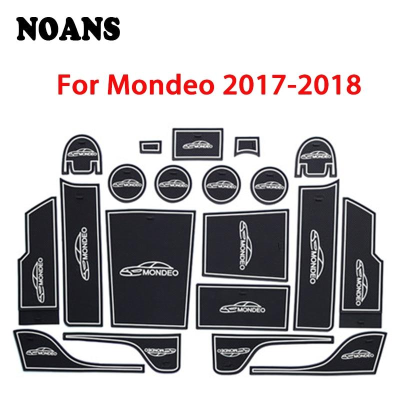 Car Interior Cup Mat Door Gate Slot Pad Storage Box Mat For Ford Mondeo MK4 MK5 MK6 4 5 6 2017 2018 2019 2013-2016 2007-2012
