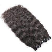 Indian Virgin Hair Deep Wave Natural Color Hair Weave Bundles Hair Natural Straight 100% Human Hair Extension