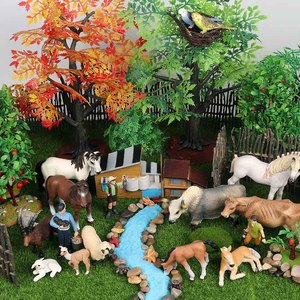 Image 2 - Oenux Original Farm Animals Model Simulation Cattle Cow Calf Bull OX PVC Animal Action Figure Collection Educational Toy For Kid
