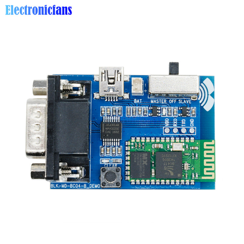 RS232 Bluetooth Serial Adapter Communication Master-Slave 2 Modes 5V Mini USB Bluetooth Serial Port Profile BC04-B