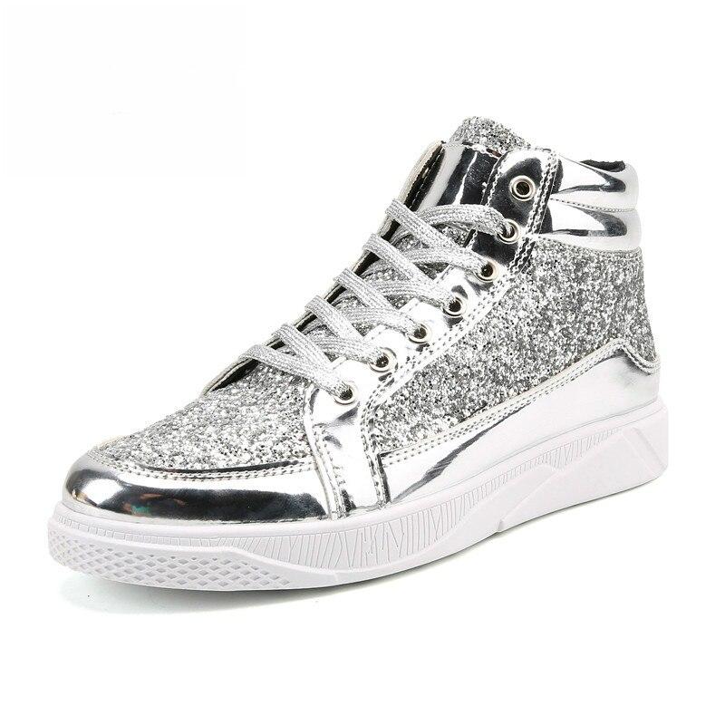 Homens das Sapatilhas Sapatos de Skate Sapatos de Desporto ao ar Tamanho Grande Atlético Livre Homens Bullock Plein Brilhante Ouro – Prata Ginásio Sapatos 2020 45