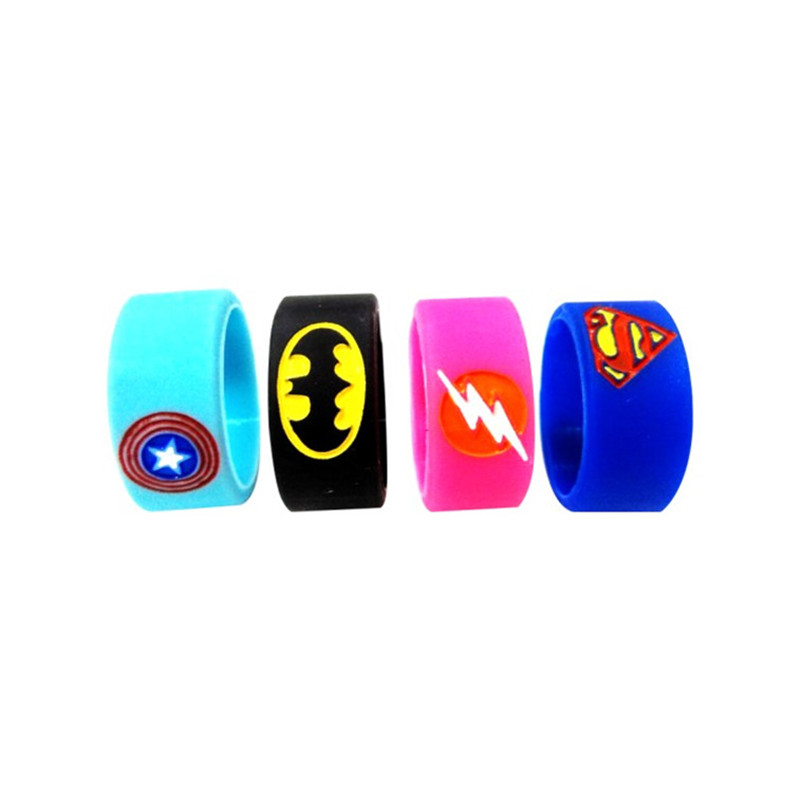 Silicone Vape Band Ring Non Slip silicone ring for melo 3 mini tfv4 tank super man batman vape band ring 200pcs/lot