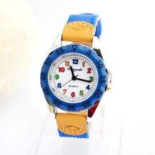 100 шт/партия мультфильм полотно холста Кварцевые часы детские часы студенческие часы Быстрая горячая распродажа