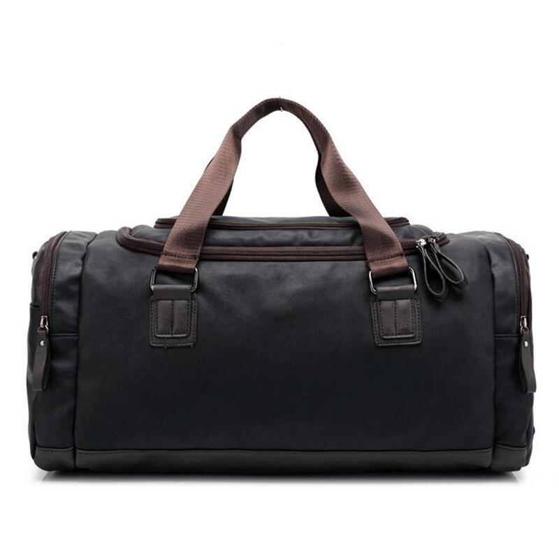 High Quality PU Leather Mens Travel Bags Large Capacity Men Messenger Bags Travel Duffle Handbags Men Shoulder Bags Duffle Bag