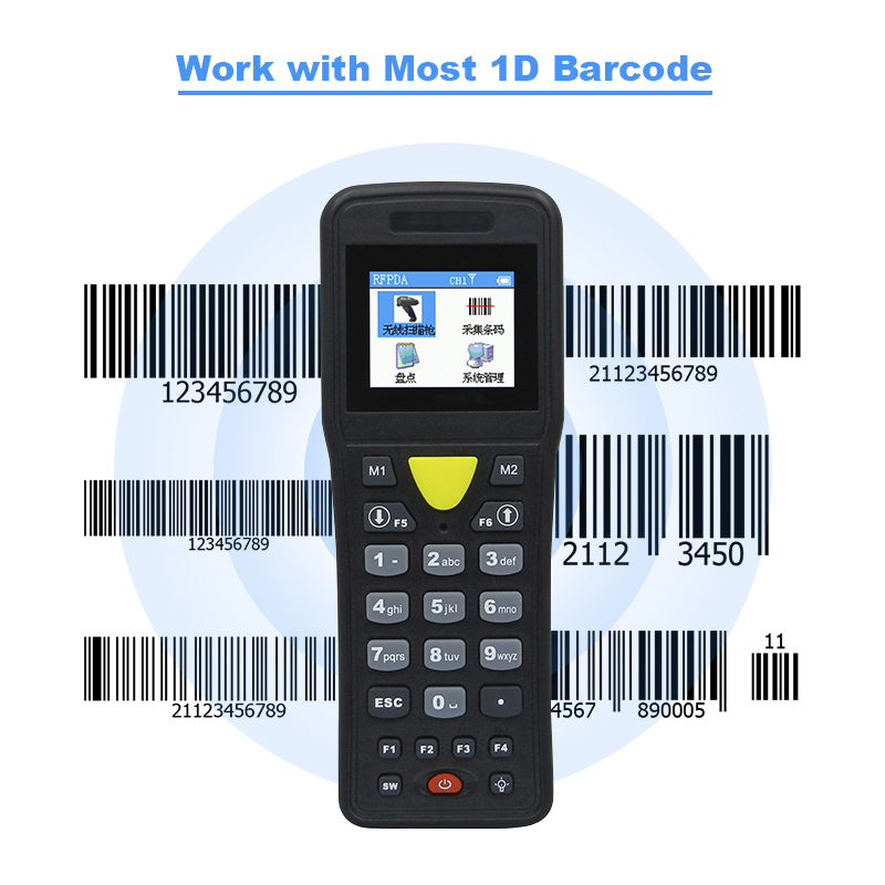 Wireless Mini Data Collector Handheld Barcode Scanner courier dedicated sweep code handheld terminals supermarket warehouse handheld wireless usb data collector handheld barcode scanner reader laser bar code pos terminal for supermarket store warehouse