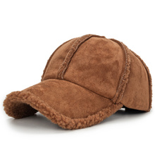 Winter 2018 Thicken Warm Baseball Cap Bone Men Women Wool Sheepskin Solid Trucker Cap Dad Hat Adjustable Sports Brand Cap Hats