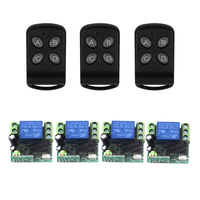 Wholesale Price Retail 1CH Digital Wireless Small Switch with Case DC12V 10A Smart Remote Control Switch 4 Receivers 4401