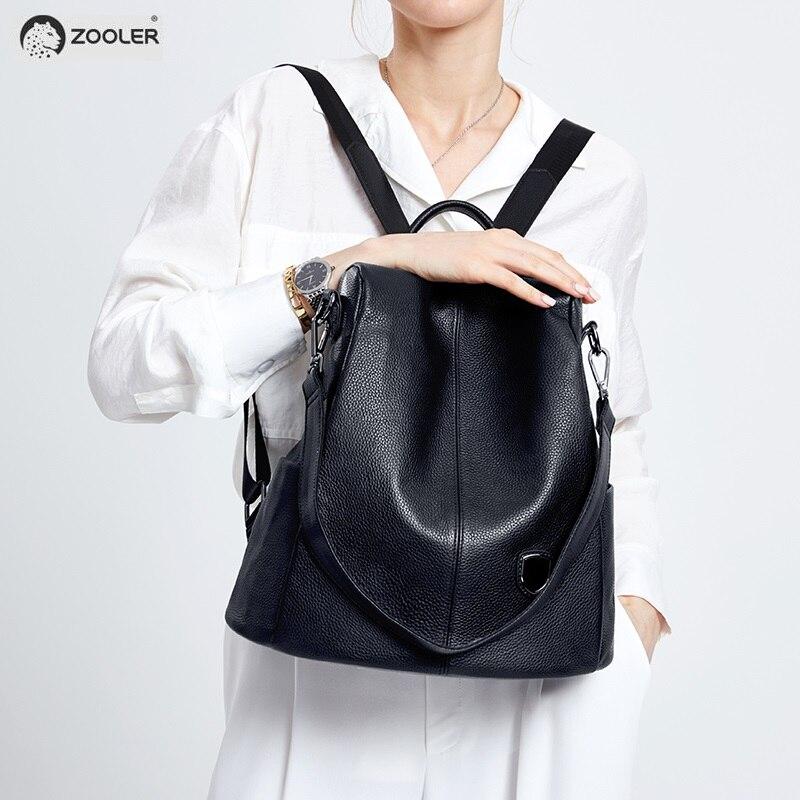 ZOOLER Genuine Leather backpack women leather backpacks Elegant Black backpack soft quality travel bags elegant Bolsas