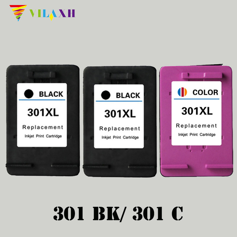 Vilaxh 301xl Compatible Ink Cartridge Replacement for HP 301 xl For Deskjet 1000 1050 2510 2050