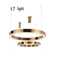 Novelty circle LED pendent lamp round home acrylic light for dinning room bar counter living room