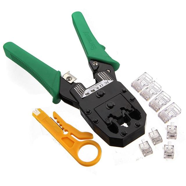 New Wire Cable Crimper Crimp Cutting Stripper RJ45 RJ11 RJ12 Network ...