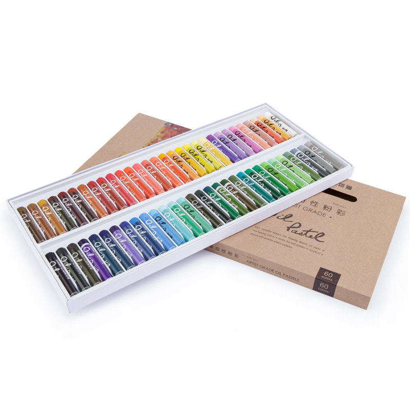 12 24 36 48 60 colors set oil pastel art set professional for Professional painting supplies