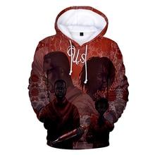 2019 New hot thriller US Horror Movie casual shirt men and women 3D hooded sweatshirt print mens xxs-4xl