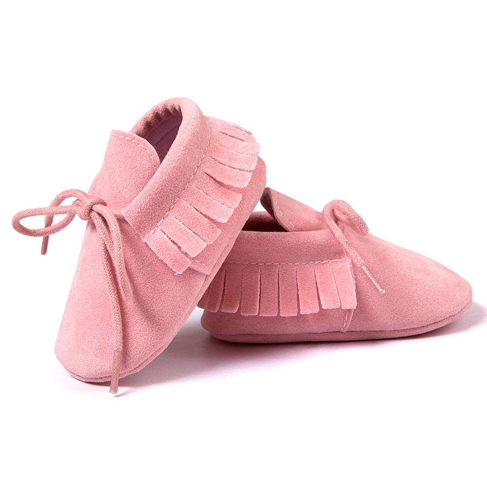 ROMIRUS Spring/Autumn Baby Moccasins shoes infant Scrub boots first walkers Newborn baby shoes Pink 13cm