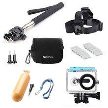 Action Camera Accessories for Xiaomi Yi Waterproof Case Head Strap Floaty Bobber Tripod Mount Monopod