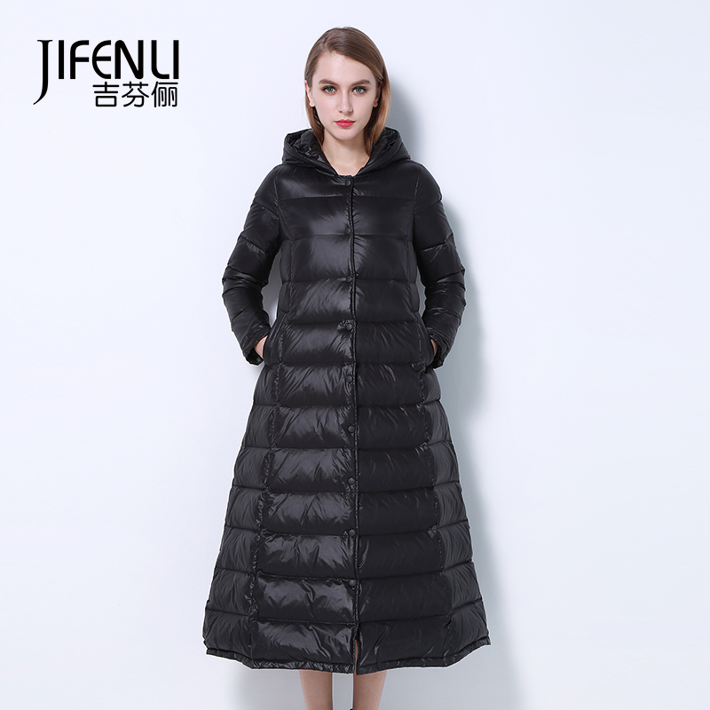 2015 New Hot Winter Thicken Warm Woman Down jacket Coat Parkas Outerwear Hooded Loose Straight Luxury Brand Long Plus Size XL