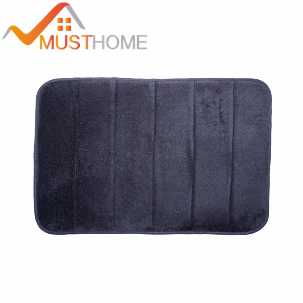 Tmavě šedý pruh s koupelovým kobercem proti skluzu 40x60cm / 15,7 - Bytový textil