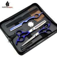 Promotion 5 0 Professional Barber Scissor Suit Hair Cutting Scissors Razor Thinning Scissor 440C Beauty Hair