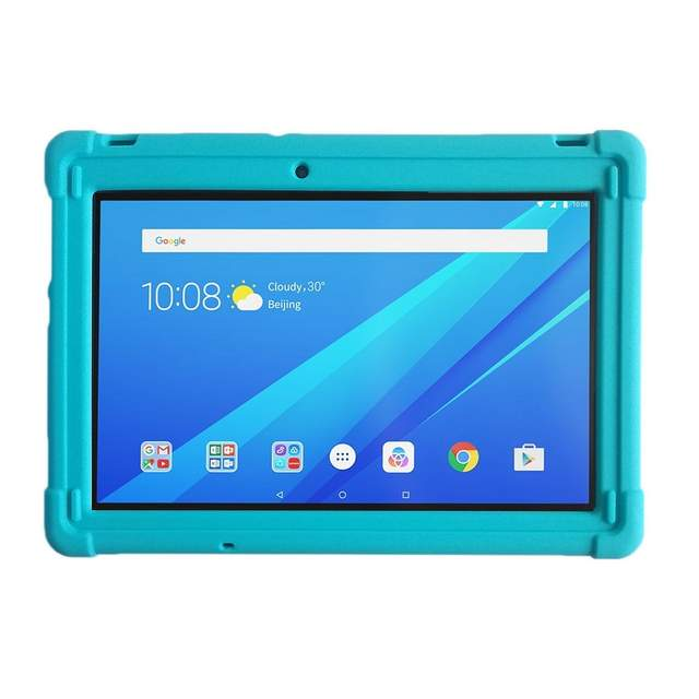 detailed pictures 120c7 2566b MingShore Rugged Silicone Cover Case For Lenovo Tab 2 A10-70 A10-70F And  Lenovo Tab 3 TB3-X70L TB3-X70F 10 Business 10.1 Tablet