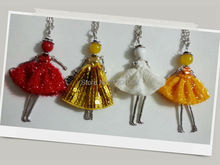 2016 New arrival PARIS Handmade Doll Pendants Women Girl Necklace genius Fashion wholesale Bag Charms Pendants NS00805-02007(China (Mainland))