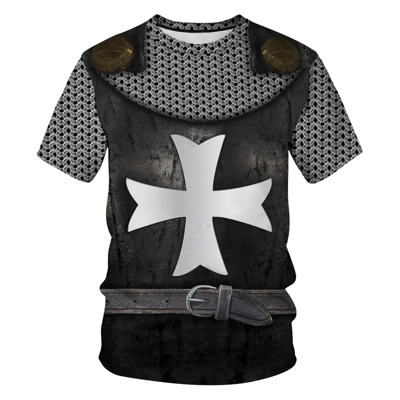Cross Armor Funny T Shirt 3d Print Men Women Summer T-shirts Short Sleeve Casual Brand Clothing Plus Size Tee Tops