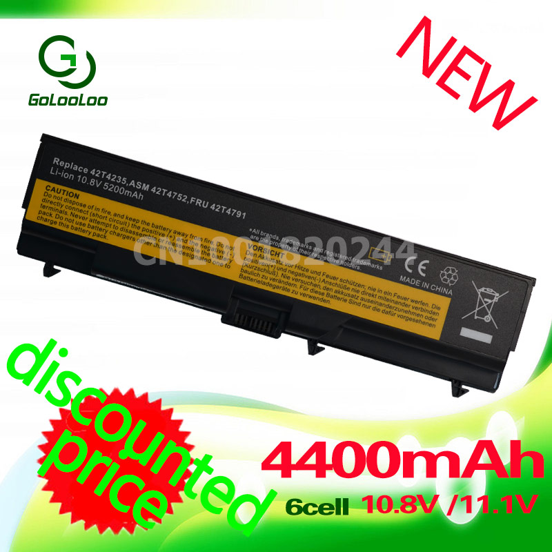 Golooloo T520 Battery For Lenovo ThinkPad Edge L410 T420 T410 L420 T510 E40 E50 L512 L412 L421 L510 L520 SL410 SL510 W510 W520 20v 6 75a 135w original ac adapter charger laptop power supply for lenovo thinkpad t530 t520 w530 w520 w510 3pin 45n0059 45n0055