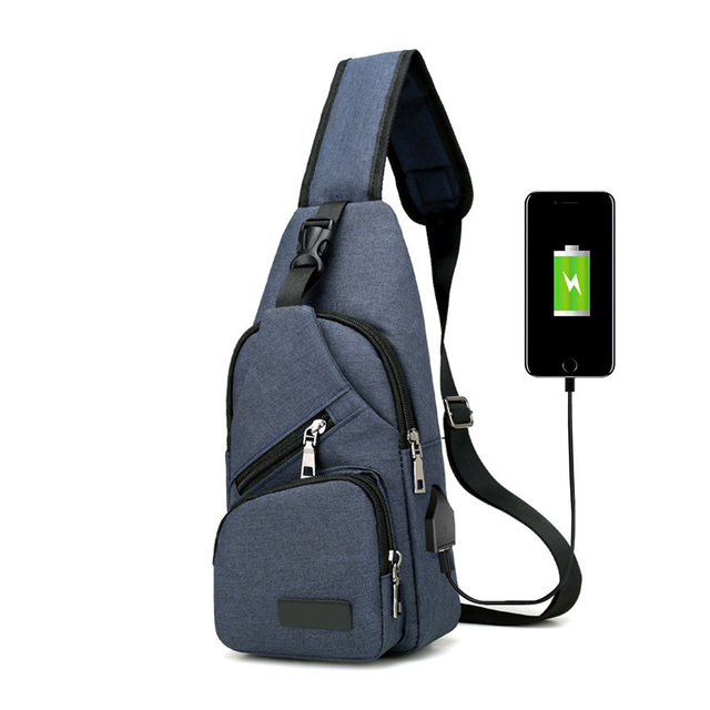 High Quality Men Usb Charge Anti Theft Security Waterproof Travel Shoulder Bag Man Crossbody Messenger Casual