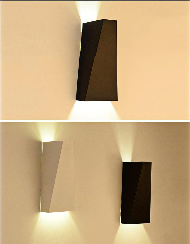 Blancnoir mur intérieur lumière bar lampes de chevet applique luminaire moderne loft led mur