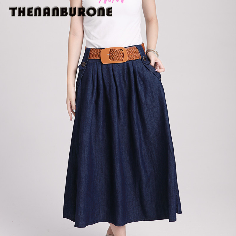 Online Get Cheap Women's Long Denim Skirt -Aliexpress.com ...