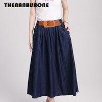 2014 New Women S Slim Denim Skirt Winter Casual Tutu Long Skirt Fashion Mini Jeans