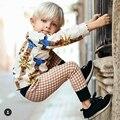 2017 новый стиль весна бобо выбирает девочки мальчики сова напечатаны Т футболка брюки детские детская одежда набор мальчиков девочек пижамы