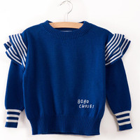 2017 Bobo Choses Autumn Winter Sweater Solid Color Cotton Pullover Sweaters Kids Boys Girls Knitted Sweater