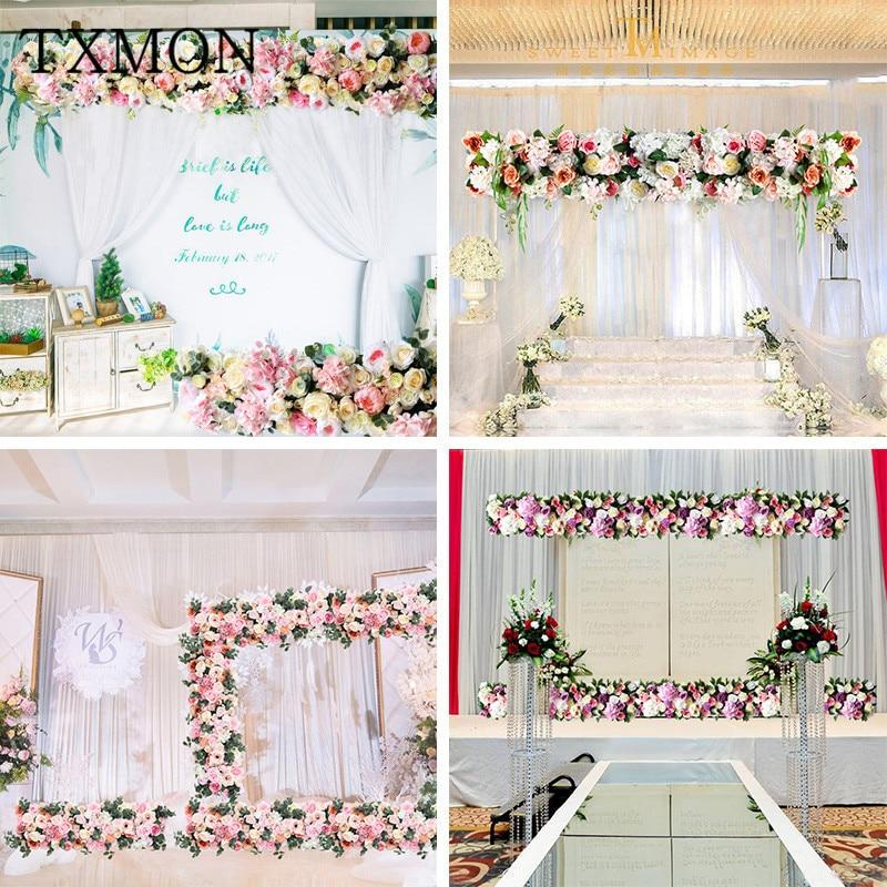 Ev ve Bahçe'ten Yapay ve Kurutulmuş Çiçekler'de Düğün kemer çiçek sıra çiçek yapay çiçekler duvar düğün sahne arka plan ev dekoratif sahte çiçek ticari ekran'da  Grup 1