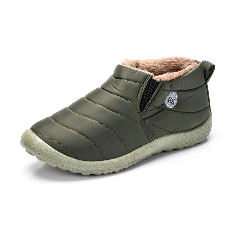 XEK Wasserdichte Frauen Winter Schuhe Schneestiefel Warme Pelzinnen Rutschfeste Unterseite Halten Warme Mutter Casual Stiefel BN Dropshipping ST228