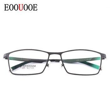 46334e3a68 EOOUOOE 2019 óptico titanio Glasse marco Gafas optik para hombres cadre  lunettes optique homme