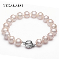YIKALAISI 925 sterling silver jewelry new pearl jewelry 8 9mm Natural Pearl Bracelet for Women Bracelet with Best Gifts