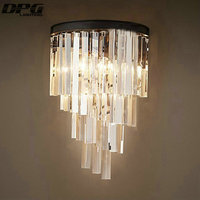 110v 220v Modern Art crystal decoration Iron wall lamp wall light indoor lighting wall sconces for bedroom