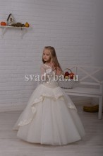 Princess Flower Girl Dress for Wedding Party First Communion Long Sleeves Floor length 0-12 Years Old  For Christmas
