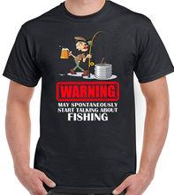 Talking About Fishing Mens Funny T-Shirt Carp Sea Trout Rod Fish Fisherman Reel все цены