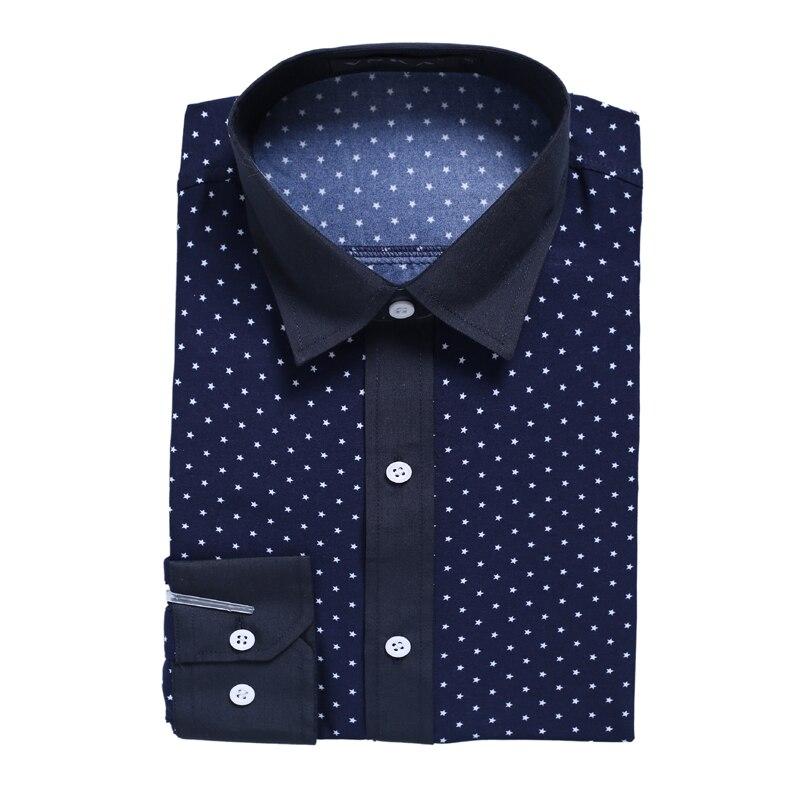 Novo 2018 moška majica majica Casual moška majica slim fit srajco - Moška oblačila - Fotografija 6